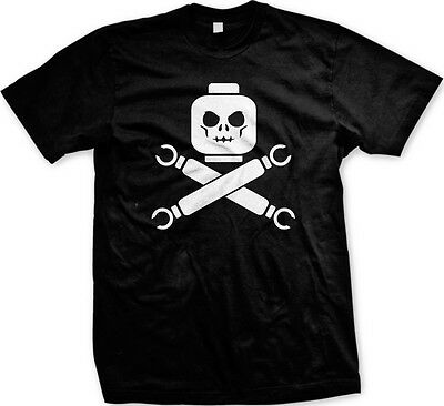 Lego Skull and Crossbones Hands 80's Toys Funny Sayings Slogans -Men's T-shirt (80s Sayings)
