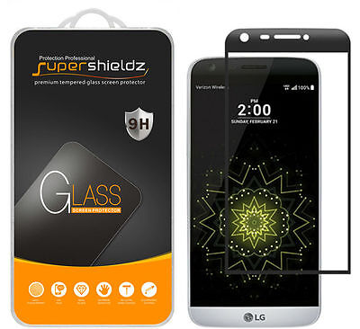 2X Supershieldz LG G5 Full Cover Tempered Glass Screen Protector