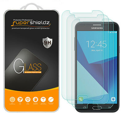 3X Supershieldz Samsung Galaxy Aureole Tempered Glass Screen Protector Saver