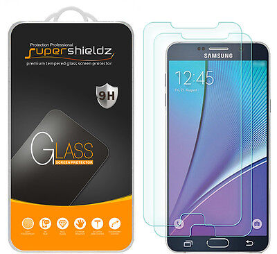 2X Supershieldz Tempered Specs Screen Protector Saver For Samsung Galaxy Note 5