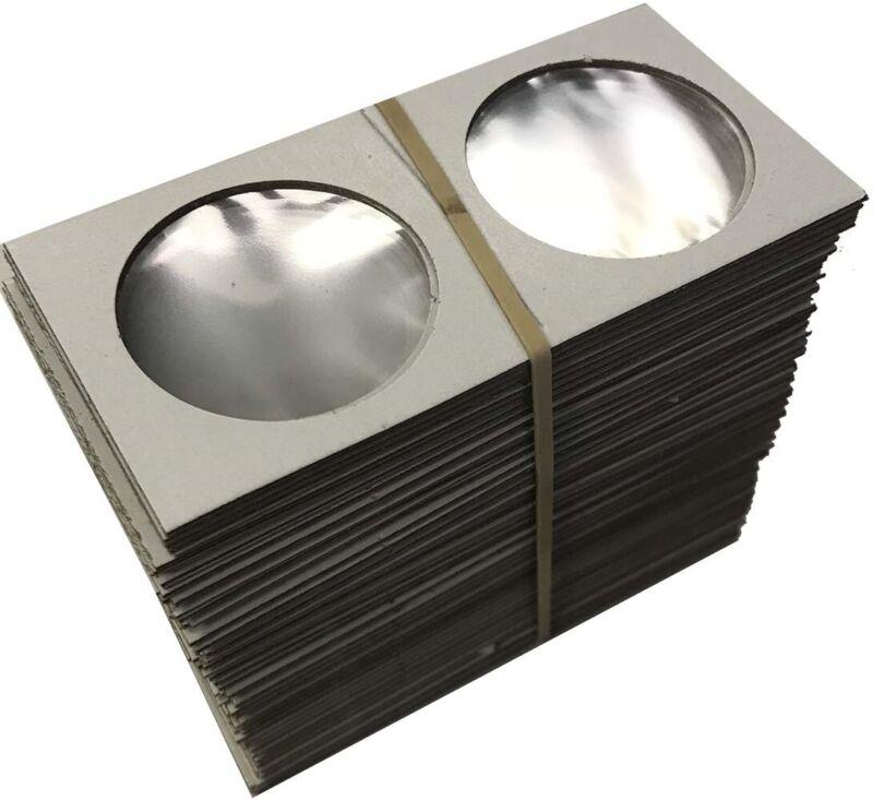 Large Dollar Size 2x2 Coin Cardboard Mylar Flips Holder Bundle of 100 Cowen