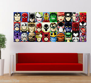 Superhero Avengers Batman Iron Man Superman Hulk Captain America Large Poster