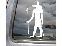 Anubis Egyptian God Afterlife Mummification Car Window Vinyl Decal Sticker 08087