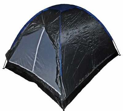 S4O 7 1/2 x 6 1/2 Feet 3-4 Person Camping Dome Tent - Grey / Blue