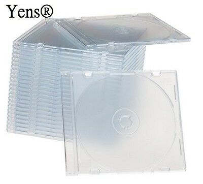 Yens 100 New Clear Single Slim Cd Dvd Jewel Case 5.2mm 1005ccd