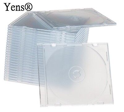 Yens® 400 Clear Single Slim Cd Dvd Jewel Case 5.2mm 4005ccd
