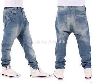 NAPPY BOY DROP CROTCH MENS BOYS HAMMER FIT SANTIAGO STYLE JEANS TIME MONEY IS | eBay