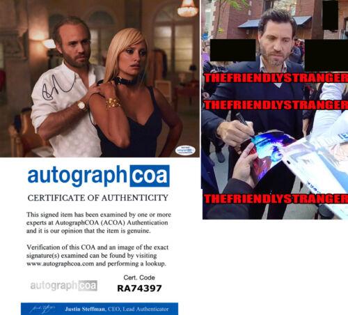 "EDGAR RAMIREZ signed ""AMERICAN CRIME STORY"" 8X10 Photo PROOF Gianni Versace ACOA"