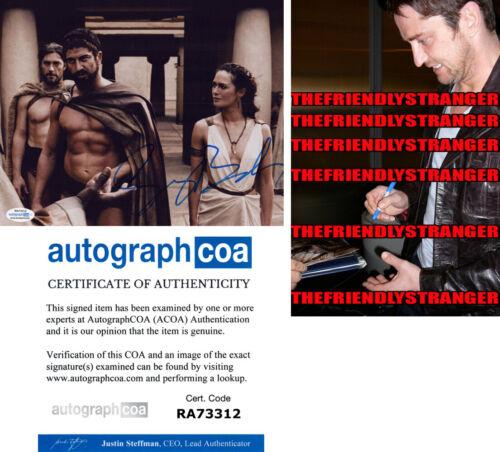 """GERARD BUTLER signed Autographed """"300"""" 8X10 Photo PROOF Rare Signature ACOA COA"""