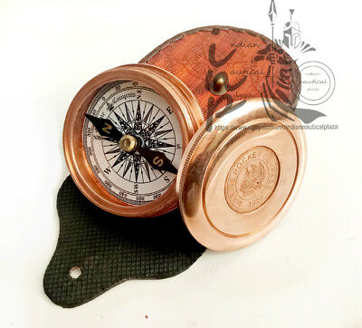 Robert Frost Poem 2.25'' Best Engraved Brass Shiny Copper Antique Compass