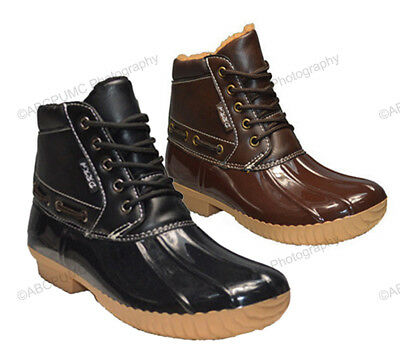 Womens Ankle Duck Boots Insulated Waterproof Lace Up Snow Rain Warm Shoes Sizes