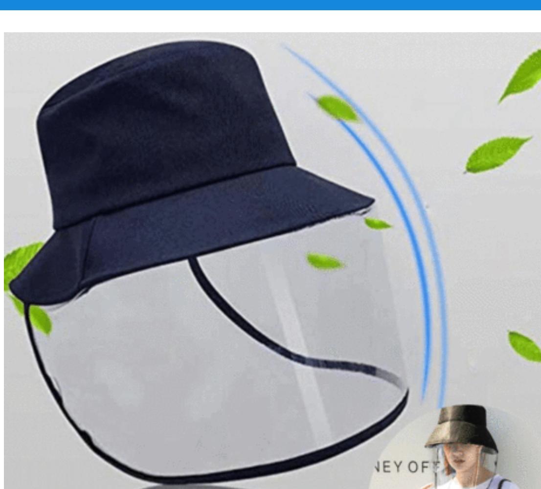 Visière chapeau de protection virus