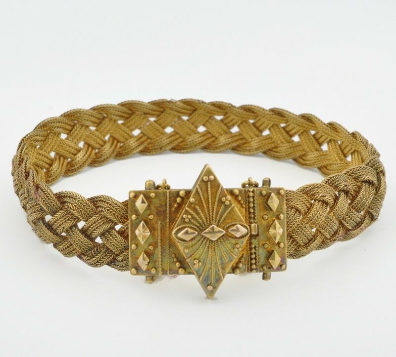 Antique Victorian Braided Gold Bracelet