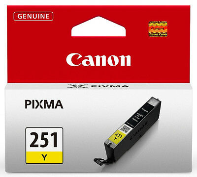Inks Yellow Ink Tank - Canon CLI-251 (6516B001) Yellow Ink Tank GENUINE NEW