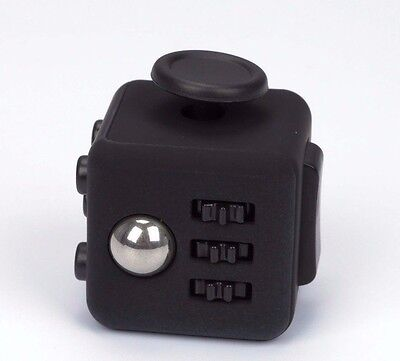 Anxiety Fidget Cube Stress Relief Focus Gift Adults Kids Attention Therapy Black