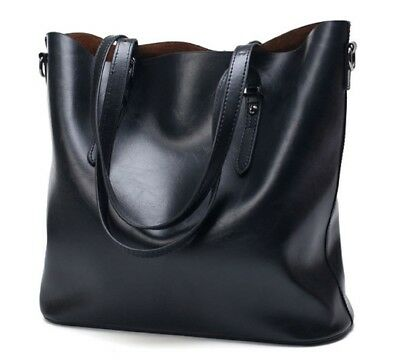 Leather Tote Bag for Women Large Handbag Shoulder Bag for Women laptop (Leather Handbag Laptop Tote Bag)