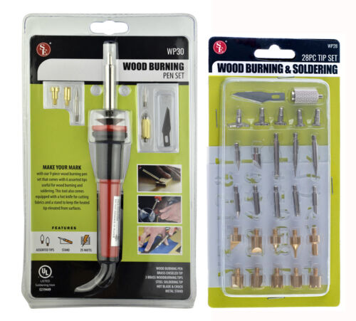 Wood Burning Pen with Extra Tips and Stencils Deluxe Craft and Hobby Kit 37PC