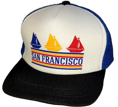 San Francisco California Sailboats Snapback Mesh Trucker Hat Cap
