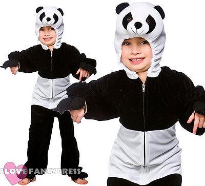 CHILDS PANDA COSTUME KIDS  ANIMAL ONESIE BOYS GIRLS SCHOOL BOOK WEEK FANCY DRESS