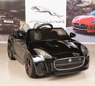 Jaguar F-TYPE 12V Kids Ride On Power Wheels Car with RC Remote, Painted Black