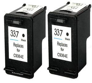 2-NO-OEM-reemplaza-para-HP-337-Photosmart-C4188-C4190-Negro-Cartuchos-de-tinta