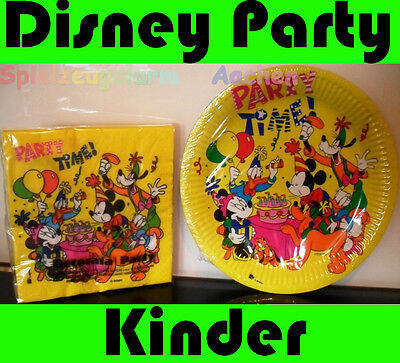 Disney Party Teller Servietten Donald Duck Daisy Duck Mickey Mouse Geburtstag
