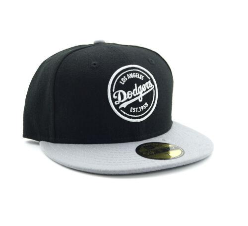 New Era Los Angeles Dodgers LA Emblem 59Fifty fitted Baseball Cap Schwarz 7 1/4