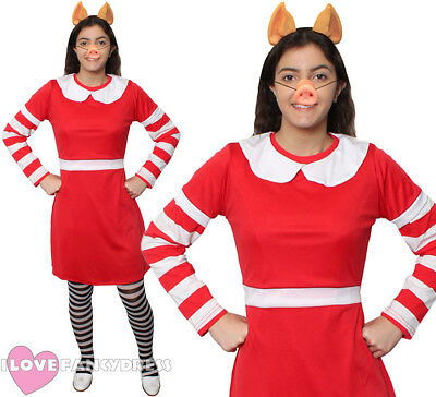 LADIES PIG COSTUME ANIMAL TV CHARACTER WORLD BOOK DAY TEACHER ADULT FANCY DRESS