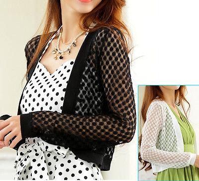 New womens top blouse dress sweater cardigan coat US size 8 10 12 14 16 18 #9369 Womens Top Coat