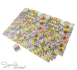 FLORAL-FIESTA-GREASEPROOF-PAPER-4x-Sheets-Twine-Garden-Party-Baking-Gift