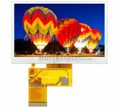 Sunlight Readable 4.3 Inch High Brightness 480x272 Tft Lcd Display With St7282
