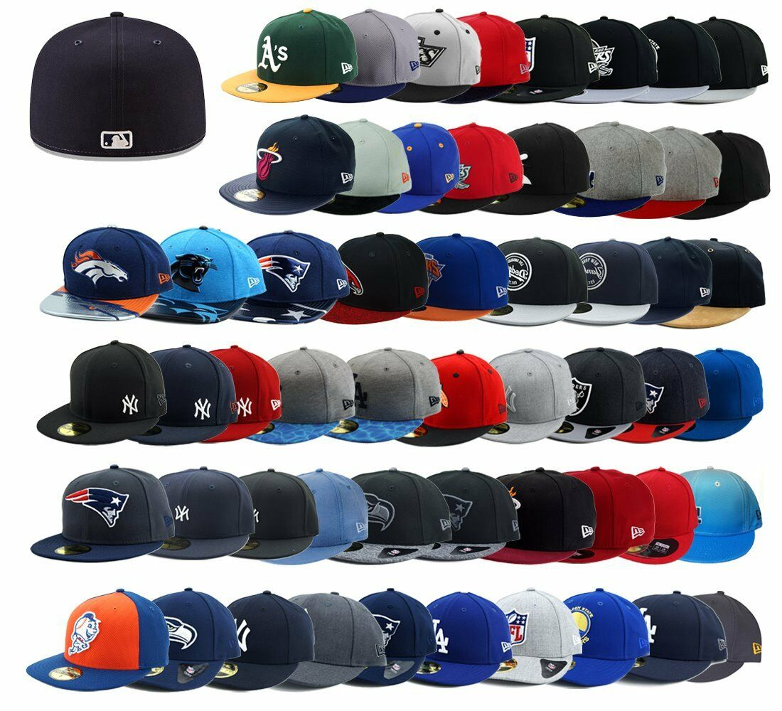 New Era Caps 59fifty Low Profile Dodgers Seahawks Yankees NFL MLB NHL div. Teams