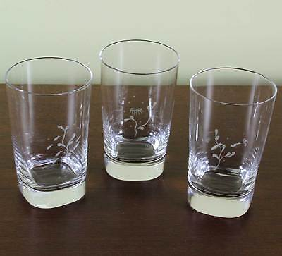 Exquisite Orrefors Set of 3 Tumbler or Scotch-Whisky Glass