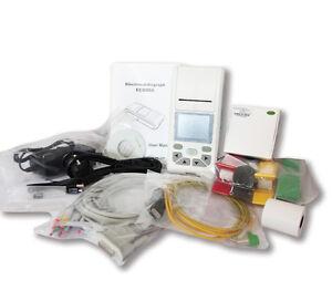 Tragbare Touch-Farb-LCD 12-Kanal-EKG-Gerät Elektrokardiograf, Druckersoftware