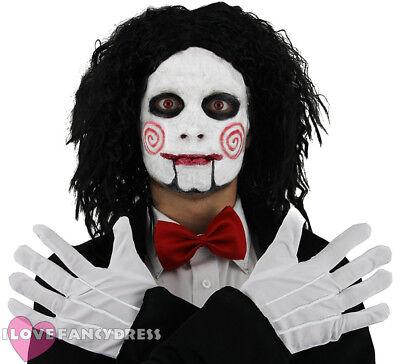 BILLY PUPPET FANCY DRESS TRI COLOUR FACE PAINT PLUS WIG BOW TIE GLOVES - Halloween Puppet Face Paint