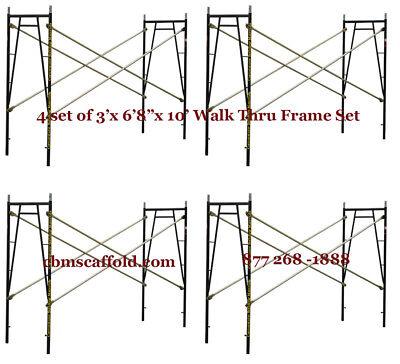 4 Set Of 3 X 68 X 10 Plastering Masonry Scaffold Frame Set Cbmscaffoldcom