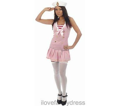 Ladies Fancy Dress - Sexy Pink Sailor Costume - Best Dressed - One Size