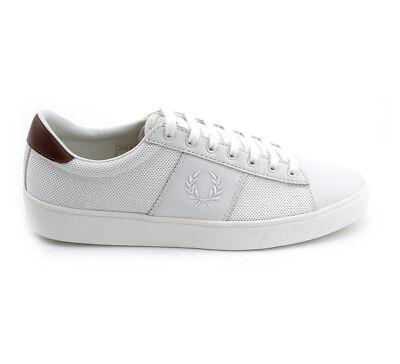 Fred Perry Schuhe Sneaker Spencer Mesh Leather B1202/254 Beige Herren div Größen