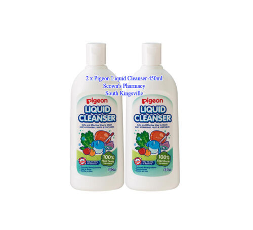 2 x Pigeon Liquid Cleanser Made From 100% Food Grade (Edible) Ingredients 450ml