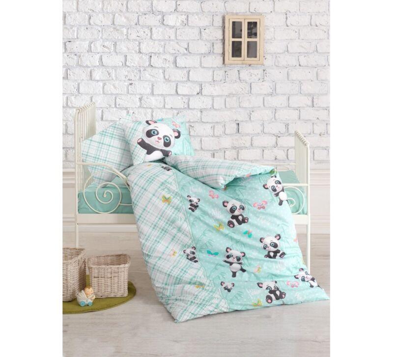 Crib Bedding Baby Boys 4pcs Bedding Set /%100 Turkish Cotton PANDA