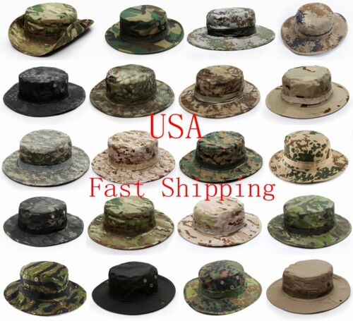 Boonie Camo Multicam Booney Bucket Hat Outdoor Army Military Tactical Camouflage
