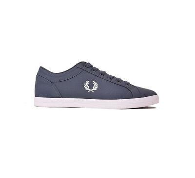 Fred Perry Schuhe Sneaker Baseline Ripstop B5114-738 Blau Herren Neu div. Größen