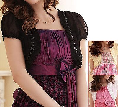 New womens top blouse dress sweater cardigan coat US size 8 10 12 14 16 #1133 Womens Top Coat