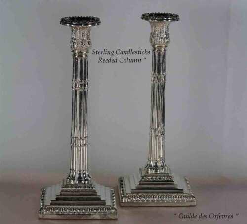 Sterling Silver Candlesticks,  Reeds