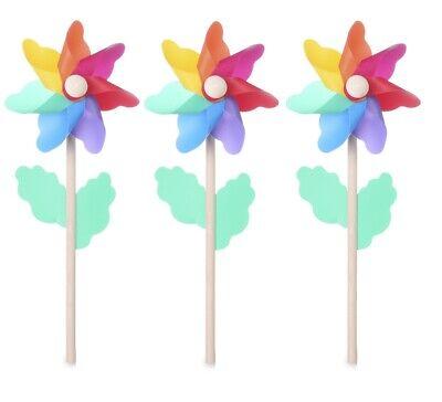 Outdoor Wind Spinner Garden Decoration Pinwheel for Flower Pot's Garden 3Pcs](Flower Wind Spinner)