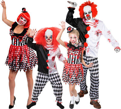 Adult Baby Costume Accessories (ADULT OR CHILD KILLER CLOWN COSTUME HALLOWEEN FANCY DRESS FAMILY ADD)