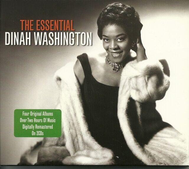 THE ESSENTIAL DINAH WASHINGTON - 2 CD BOX SET - CRY ME A RIVER & MORE