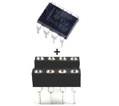 20pcs Texas Instruments Ne555p Ne555 555 Sockets Single Precision Timer New Ic