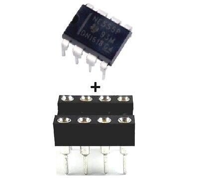 10pcs Ne555p Ne555 555 Sockets Single Precision Timer New Ic