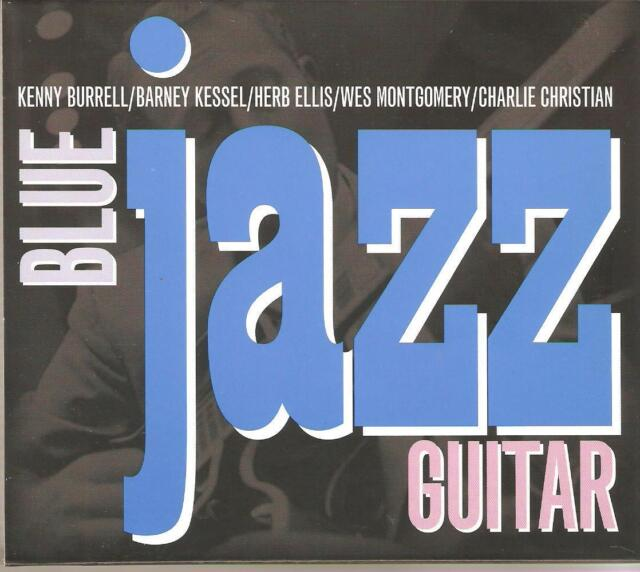 BLUE JAZZ GUITAR - 2 CD BOX SET - KENNY BURRELL * HERB ELLIS & MORE